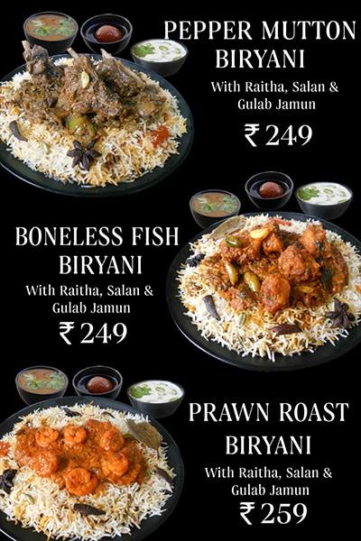 Jus Biryani menu 3