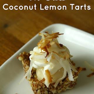 No Bake Gluten Free Coconut Lemon Tarts Recipe
