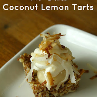 No Bake Gluten Free Coconut Lemon Tarts.
