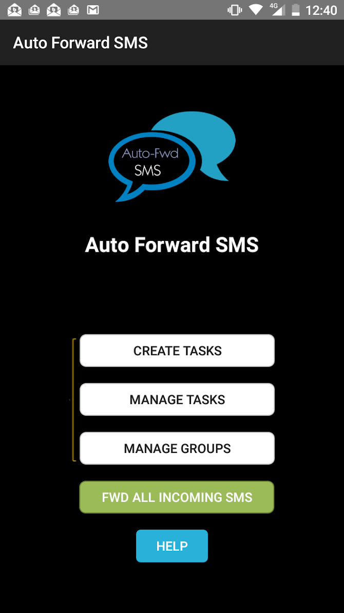 Auto Forward SMS to another number & email Android 3