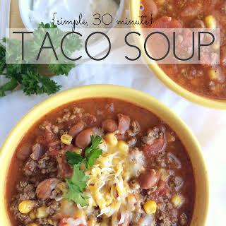 {simple, 30-minute} Taco Soup.