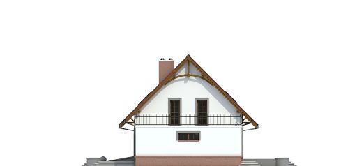 Sosnówka II z garażem 1-st. bliźniak A-BL2 - Elewacja prawa