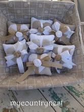 Photo: cuscinetti doppi alla lavanda con rosellina in cotone o lino
