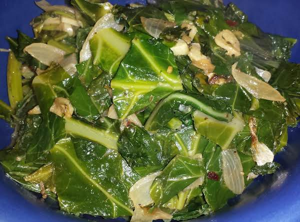 Italian Greens With Sauteed Onions And Garlic Recipe