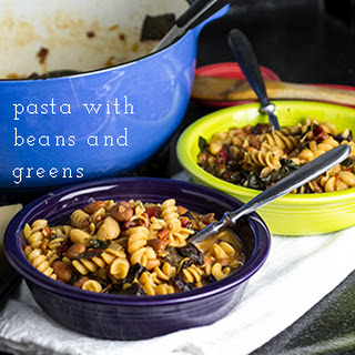 Pasta with Beans and Swiss Chard.