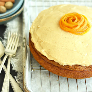 Pumpkin Cake with Maple Spice Frosting Recipe