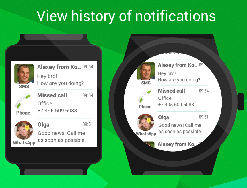 Informer for Wear OS (Android Wear) Smartwatch