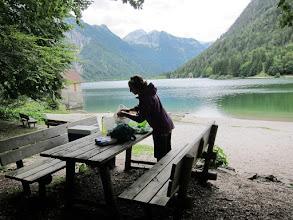 Photo: Lunch en Slovénie, où nous passerons 3 jours