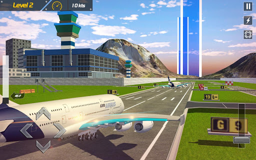 Real Plane Flight Simulator: Fly 3D Game apkpoly screenshots 1