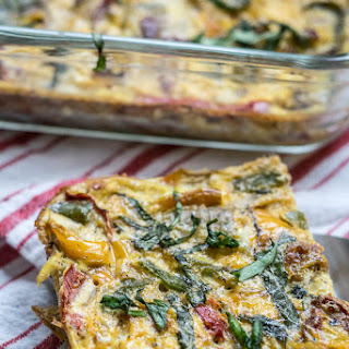 Sun Dried Tomato and Basil Egg Casserole
