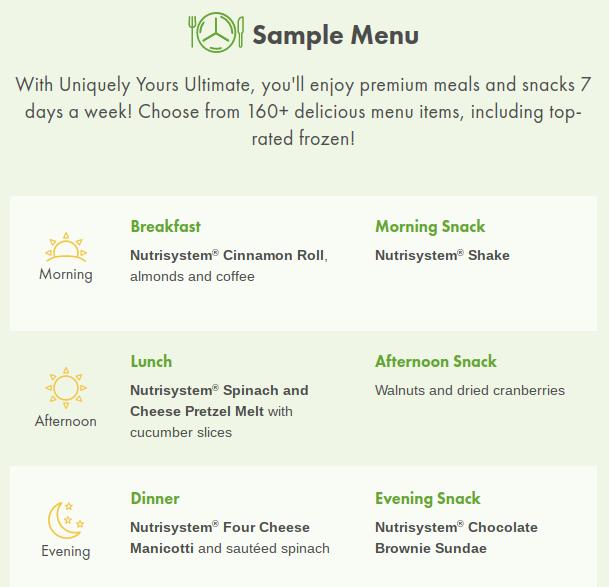 Пункты меню включают замороженные и незамороженные варианты.