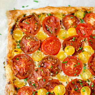 Fresh Tomato Tart with Mustard CrèMe FraîChe Recipe