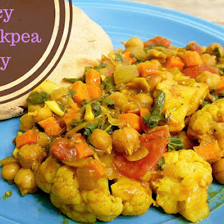 Saucy Vegan Vegetable & Chickpea Curry Recipe
