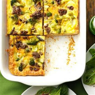 Broccoli Biscuit Squares.