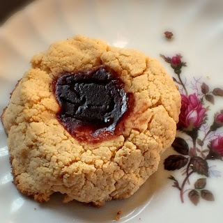 Low-Carb Raspberry Thumbprint Scones (Starbucks Copycat).