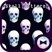 Stylish Wallpaper Skull Pattern Theme