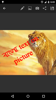 bangla sms on photo - screenshot