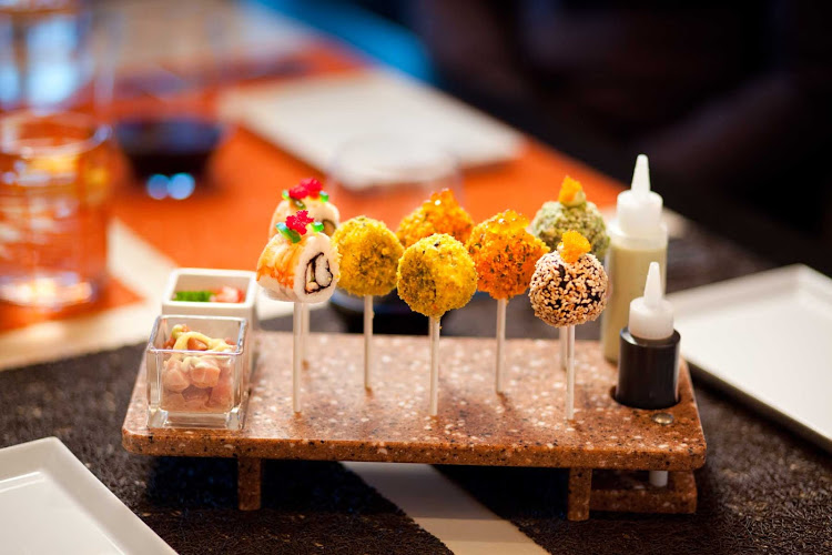 Qsine's fresh sushi with a delicate garnish of caviar on Celebrity Silhouette will whet your appetite for these 10 top cruise ship restaurants.
