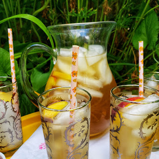 Peach Peppercorn Sun Brewed Iced Tea Recipe