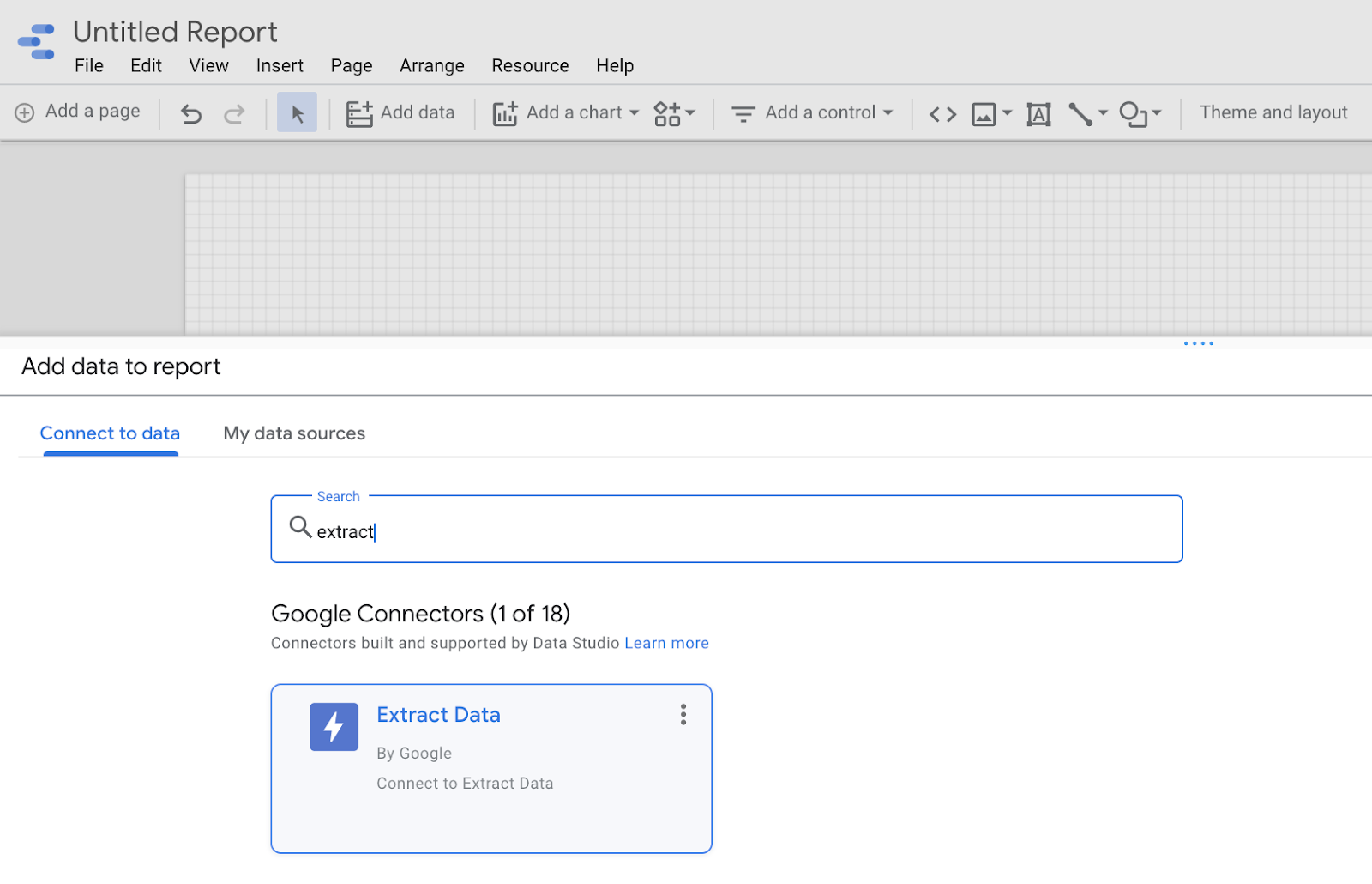 add data to report with google extract data
