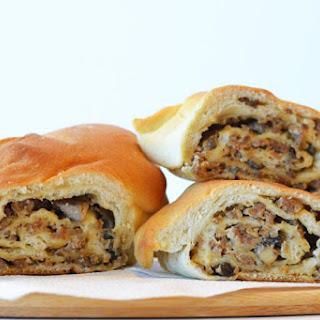 Creamy Sausage Mushroom Stomboli