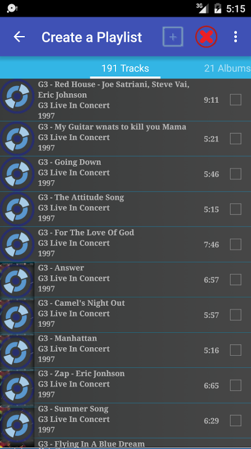 how to make new playlist on android