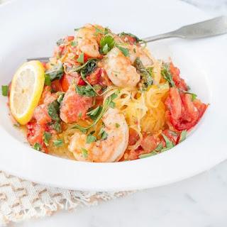 Roasted Tomato and Shrimp Spaghetti Squash Pasta