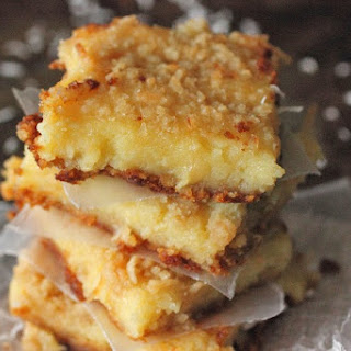 Lemon Coconut Oeey Gooey Bars.