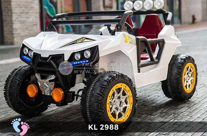 Xe ô tô điện đồ chơi trẻ em KL-2988 ghế da 2