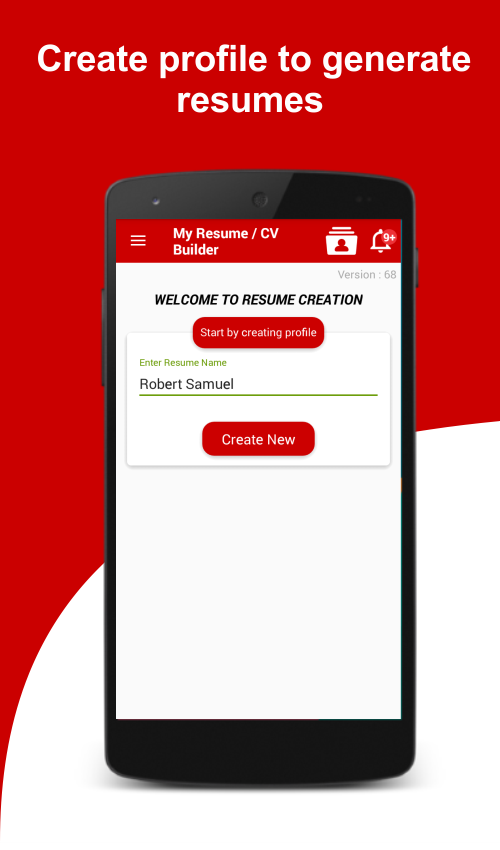 I highly recommend to download Resume Builder app to create ...