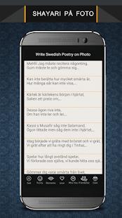 Write Swedish Poetry on Photo - náhled