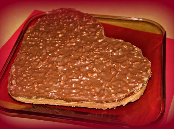 Chocolate Peanut Butter Crack Bars, Cut Into A Heart Shape! For Valentines Day!!!  :o)
