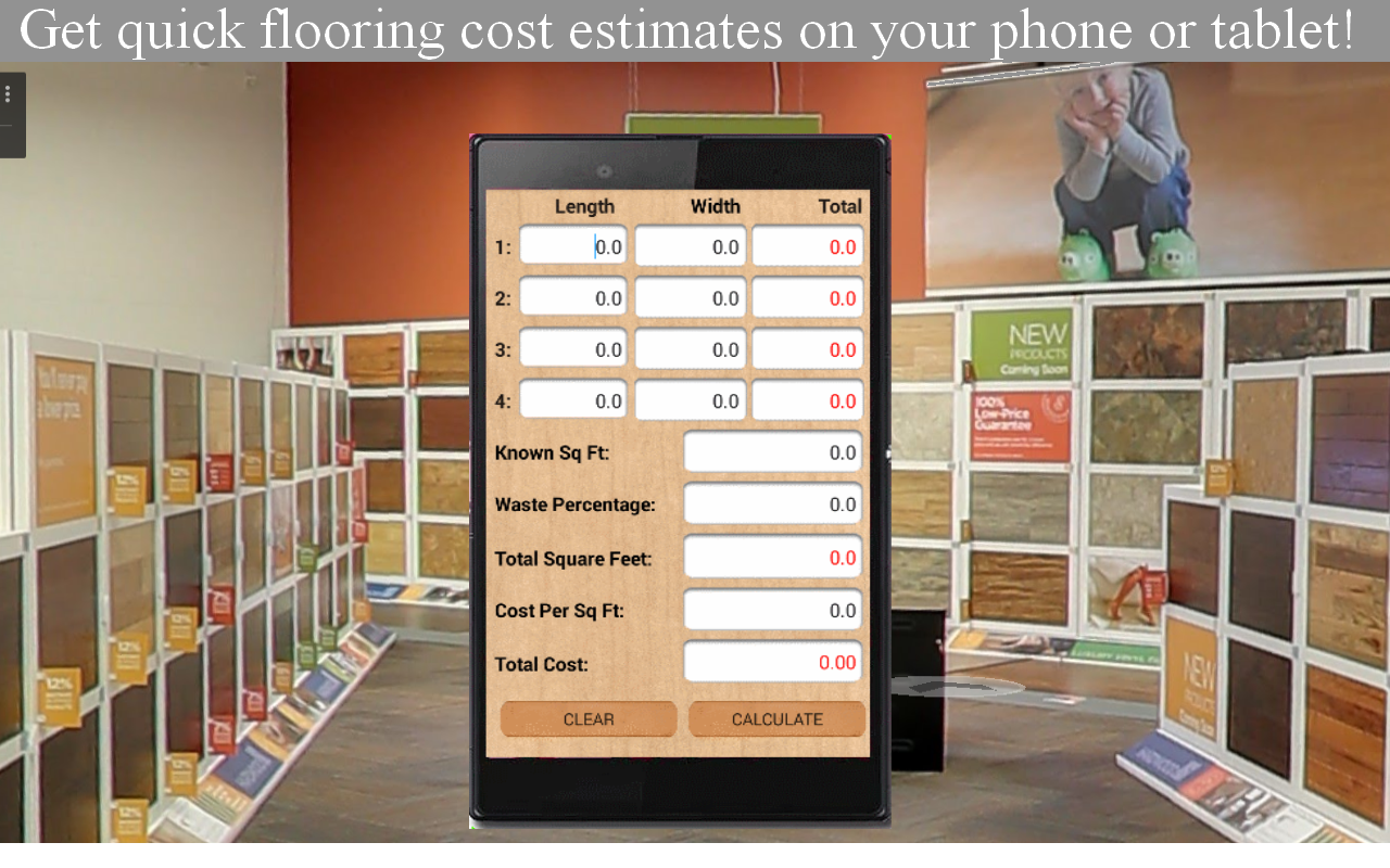 Augmented reality flooring app and tiling app for ceramic tiles.