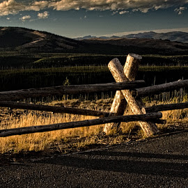 Rail Fence by Richard Michael Lingo - Artistic Objects Other Objects ( artistic objects, wooden rails, fence, wyoming, yellowstone )