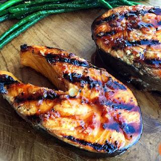 Sour Cherry Glazed Grilled Salmon.
