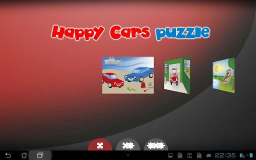 ハッピー車のジグソーパズル