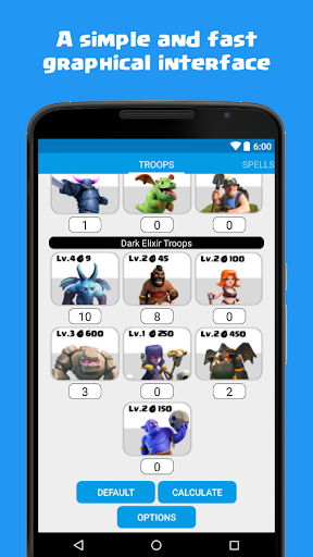Calculator for Clash of Clans 1.5 screenshots 2