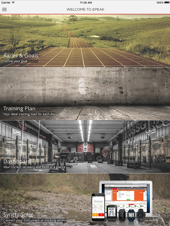 Plan2PEAK : Training Plan- screenshot