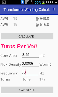 Transformer winding calculator apps on google play screenshot image greentooth Choice Image