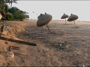 Photo: The beach after the tsunami 2004 Dec 26. Video image: S. Hartmeyer.