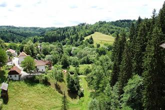 Photo: Widok z okien Predjamskiego zamku