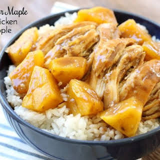 SLOW COOKER MAPLE BBQ CHICKEN & PINEAPPLE.