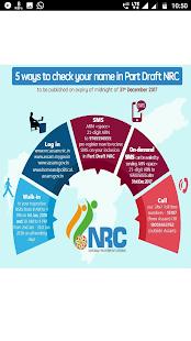 NRC Assam - Check Your Status - náhled