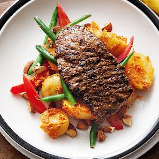 Minute Steaks With Romesco Salad.