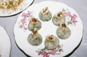 Photo: 11125 揚州/富春茶社/料理/翡翠焼売/青菜の餡