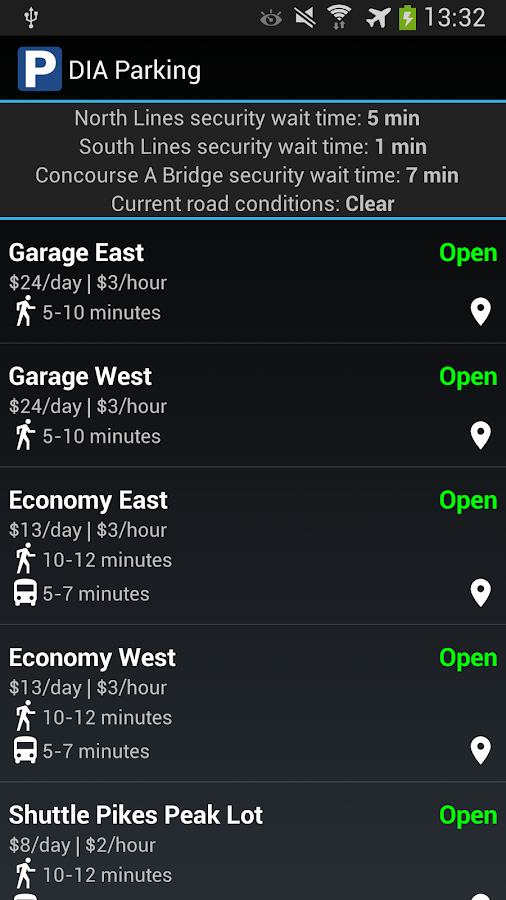 DIA Parking- screenshot