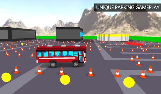 Blocky Bus Parking - náhled