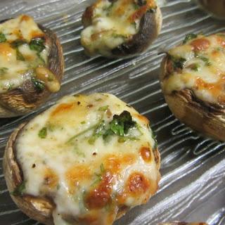 Mushrooms Stuffed With Cheese.