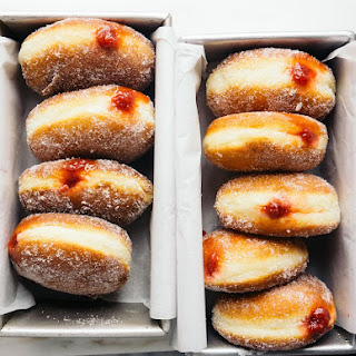 Strawberry Jam Doughnuts