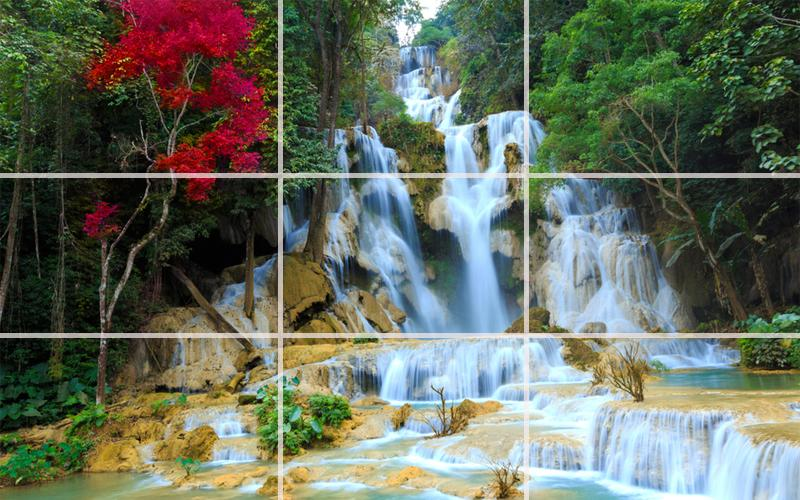 Puzzle - Amazing waterfalls- screenshot